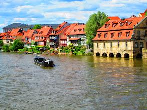 Photo: Regensburg , Häuser am Strom
