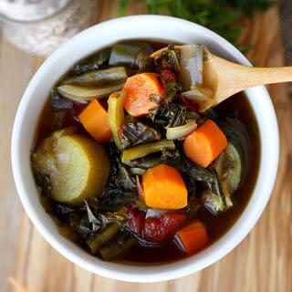 Detox Crock Pot Vegetable Soup.
