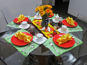 Photo: Each day the table was set differently