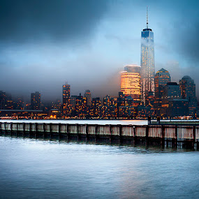 by Alexandru Popovski - City,  Street & Park  Skylines ( skylines, manhattan, new york )