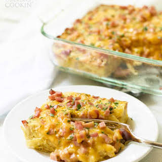 Easy Ham and Cheese Breakfast Casserole.