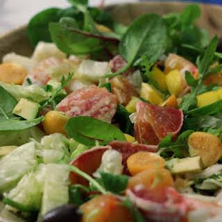 Raw Vegan Blood Orange Winter Salad.