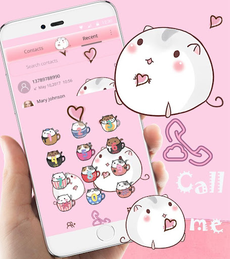 Cute Cup Cat Theme Kitty Wallpaper & icon pack screenshot 8