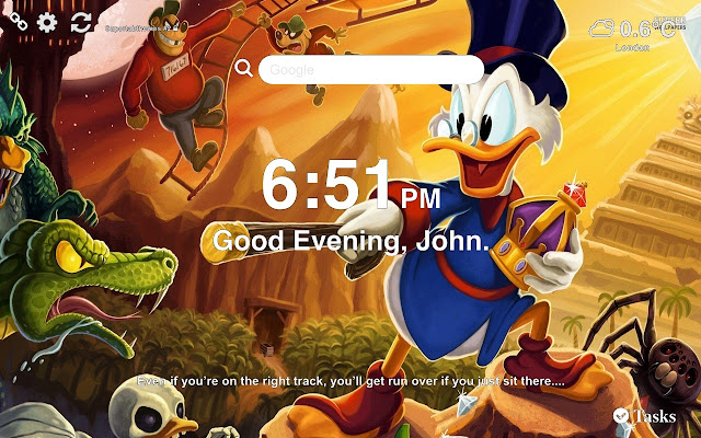 DuckTales Wallpaper Tab Theme