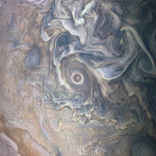 Jupiter's Swirling Cloudscape