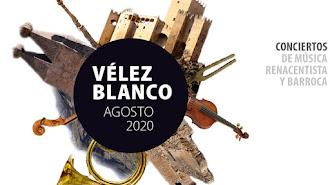 Cartel del programa de música renacentista y barroca de Vélez-Blanco.