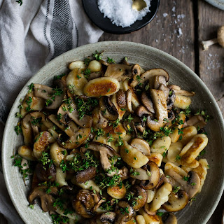 Mushroom Gnocchi with Thyme.
