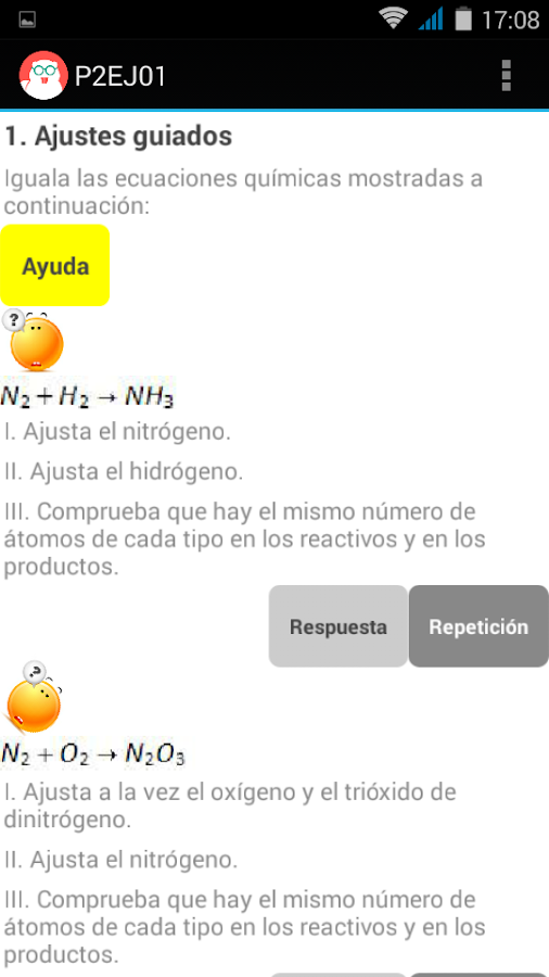 REACCIONES QUIMICAS 3º ESO- screenshot