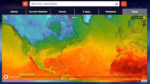 Weather Radar Pro Aplikacije za Android screenshot