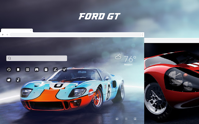 Ford GT HD Car Wallpapers New Tab Theme
