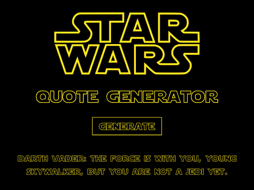 Star Wars Quote Generator By Master Chameleon Games Google Play