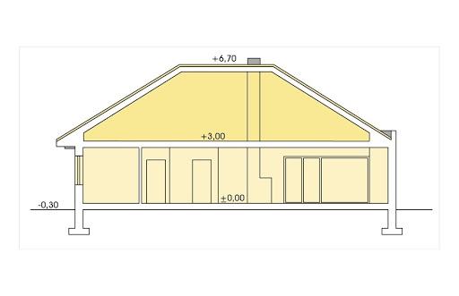 Alabama 2 wersja B bez garażu - Przekrój