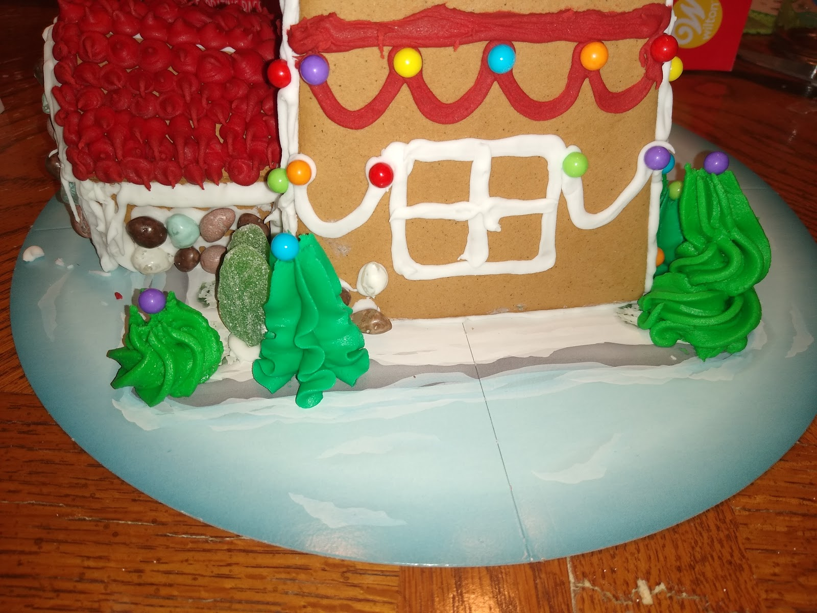 gingerbread trees and shrubs