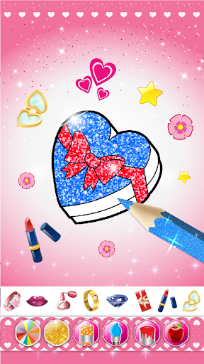 Glitter beauty coloring and drawing screenshot 3