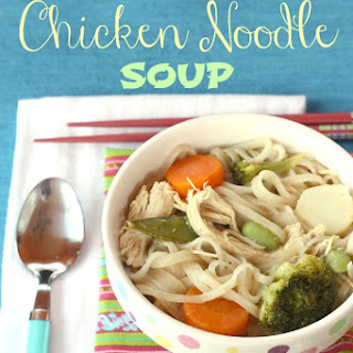 {Semi-Homemade} Thai Chicken Noodle Soup