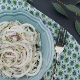 Refreshing Turnip and Dill Salad.