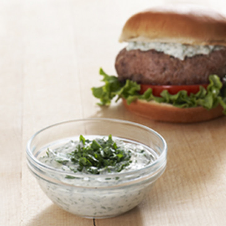 Best Ever Juicy Burger with Creamy Chimichurri Sauce Recipe