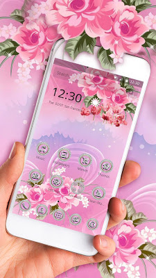 Diamond Flower Gold Theme - screenshot