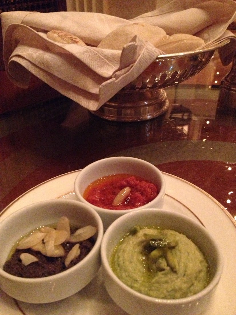 Assorted sauces, Emirates Palace, Abu Dhabi, UAE