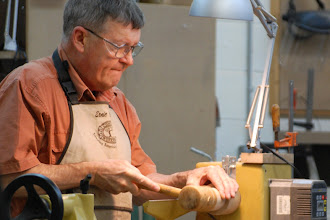 Photo: Once he gets to the right size, he persuades the workpiece into a firm fit with a mallet.