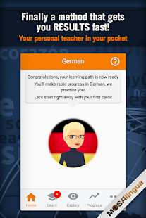 Learn German with MosaLingua Screenshot