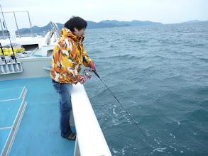 Photo: ヤマシタさんヒーット! ・・ああー! バレた。 この後もまたバラした。