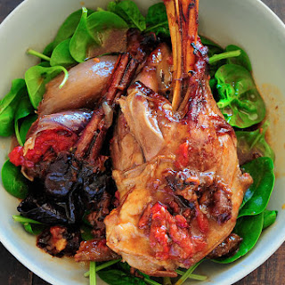 Moroccan Lamb Shanks with Prunes and Saffron