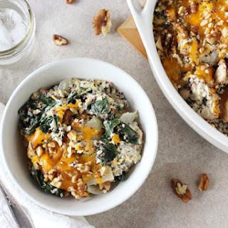 Cheesy Kale & Quinoa Casserole