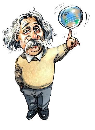 Cartoon of Einstein