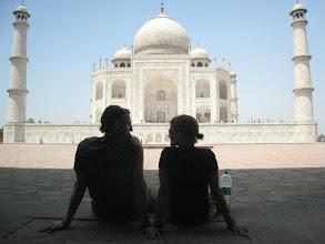 Photo: Cooling in the shade at Taj Mahal