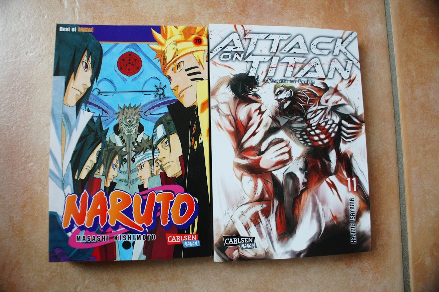 Carlsen Manga November Naruto Attack on Titan
