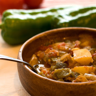 Vegan Green Chile Stew.
