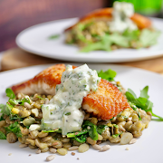 Seared Salmon and Warm Lentil Salad (2 MEALS)