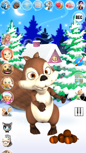 Talking Squirrel Frozen Forest apkmind screenshots 6