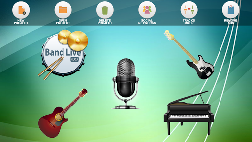 Band Live Rock (drum, bass, guitar, piano, mic) Screenshot