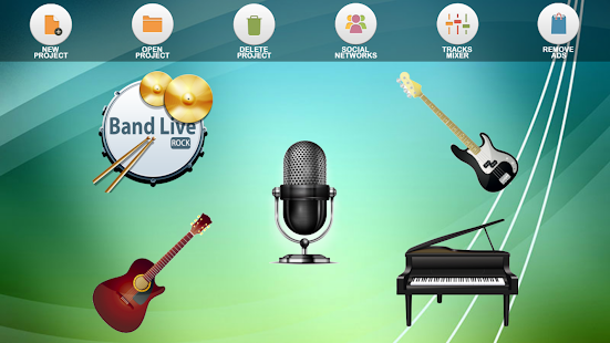 Band Live Rock (drum, bass, guitar, piano, mic)- screenshot thumbnail