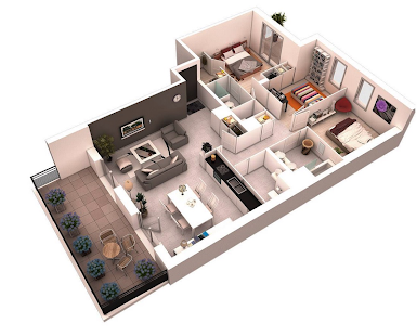 3D room planner layout- screenshot thumbnail ...