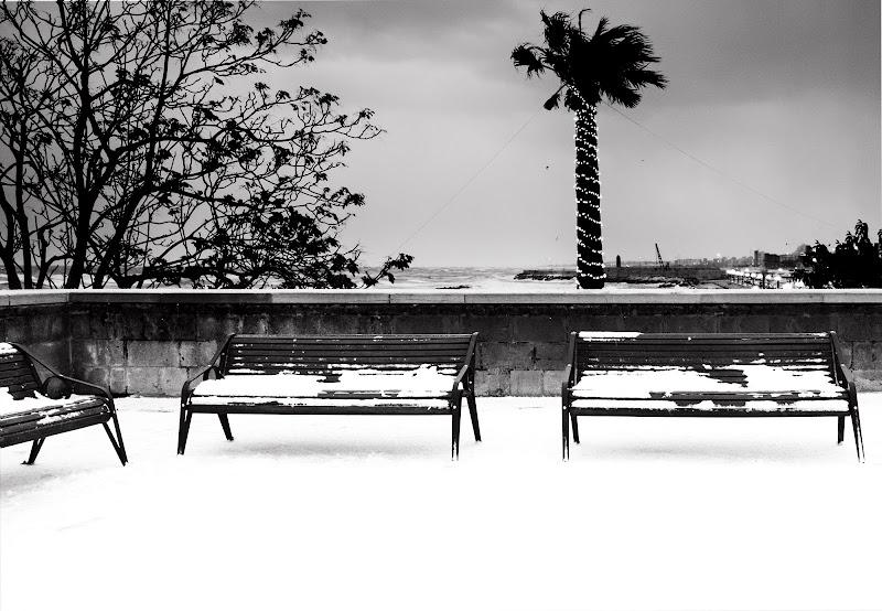 Nevicata vista mare di Miki Sarace