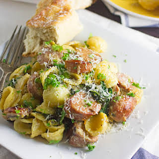 Orecchiette Pasta with Chicken Sausage & Kale.