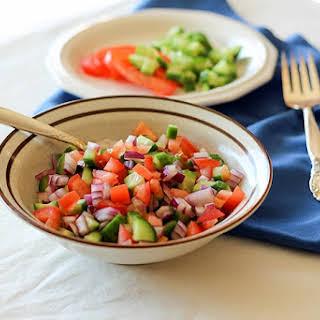 Salad Shirazi - Persian Cucumber-Tomato Salad.