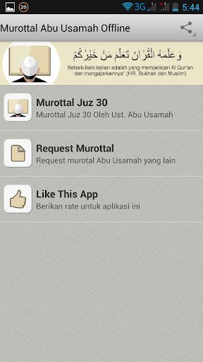 Murottal Abu Usamah Offline