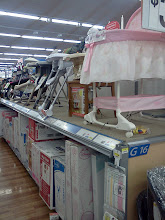 Photo: Next we headed to the baby section to pick up some diapers. Oh don't you just love baby stuff? I like how Walmart has all of their baby items out of the boxes so you can check them out.