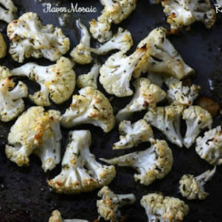 Garlic Parmesan Oven Roasted Cauliflower Recipe