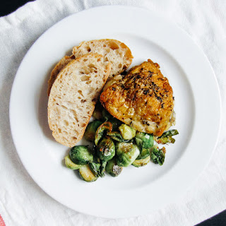 Oven Baked Chicken Thighs and Brussel Sprouts