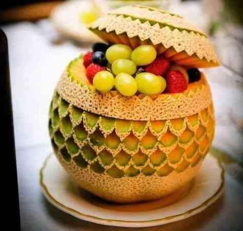 雕刻水果理念