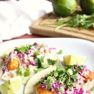 Crispy Fish Tacos with Cilantro Lime Sauce