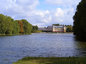Photo: Here, the chateau, as seen from across the canal.