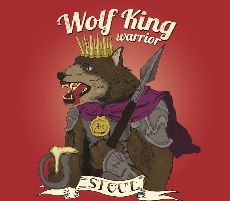 Logo of Wolf King Warrior Imperial Stout with Oatmeal and Coffee