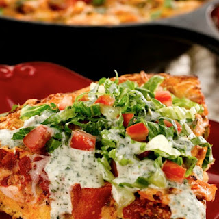 Chicken Taco Cornbread Wedges