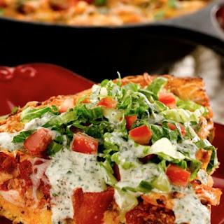 Chicken Taco Cornbread Wedges